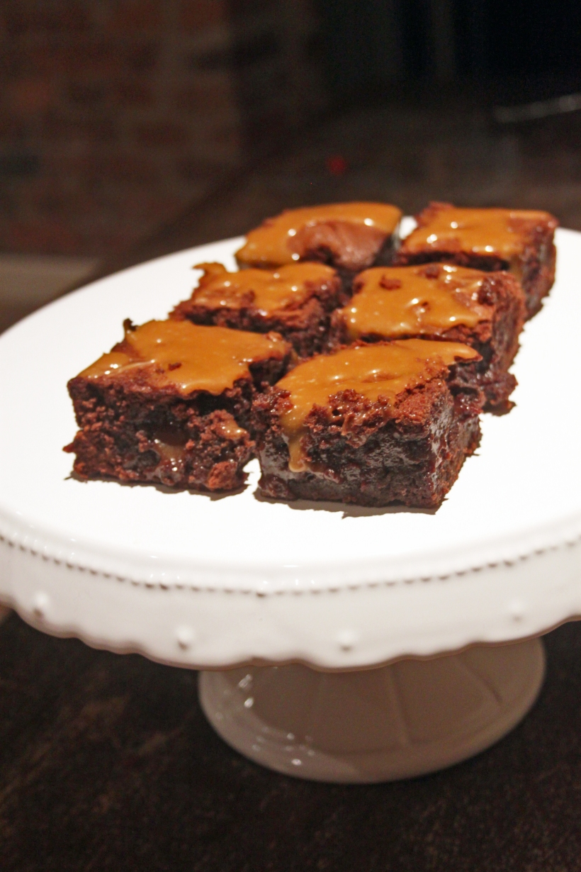 Copper Spoon Cakery Gooey Salted Caramel Brownies
