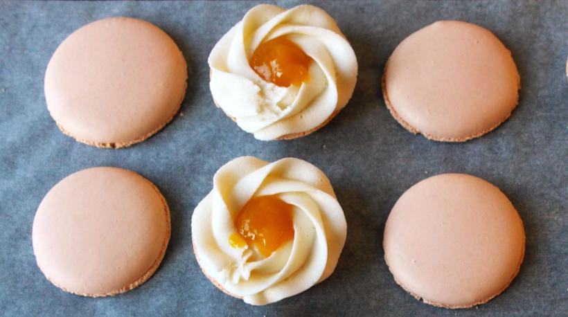 Copper Spoon Cakery Peach Bellini Macarons