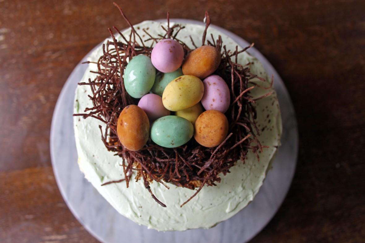 Copper Spoon Cakery Easter Egg Nest Cake