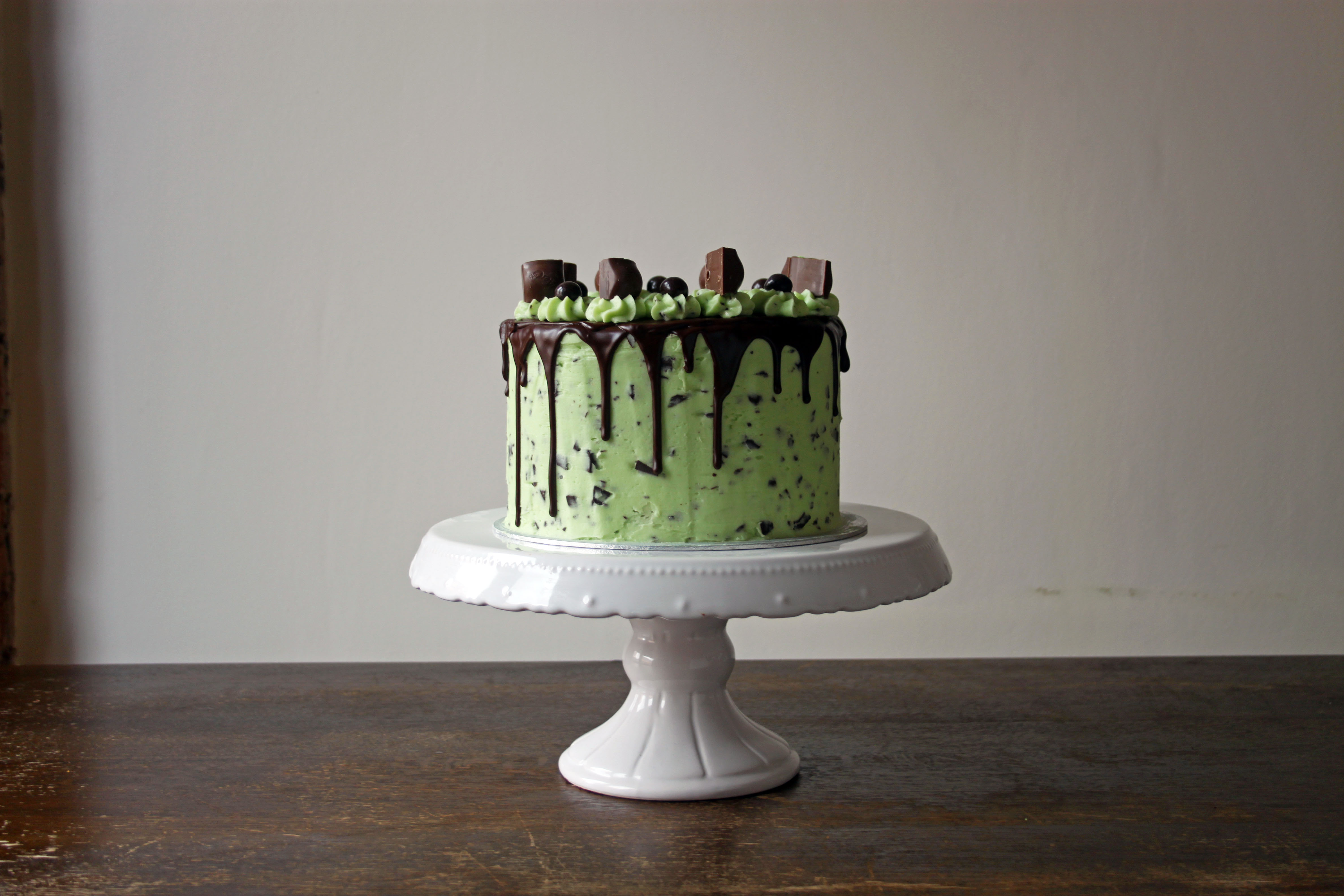 Mint Chocolate Aero Cake - Copper Spoon Cakery