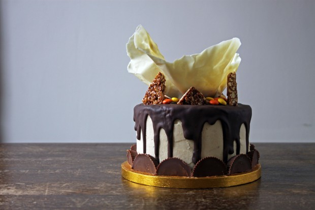 Reeces Peanut Butter Chocolate Cake - Copper Spoon Cakery