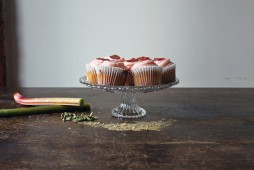 Copper Spoon Cakery Rhubarb Cupcakes
