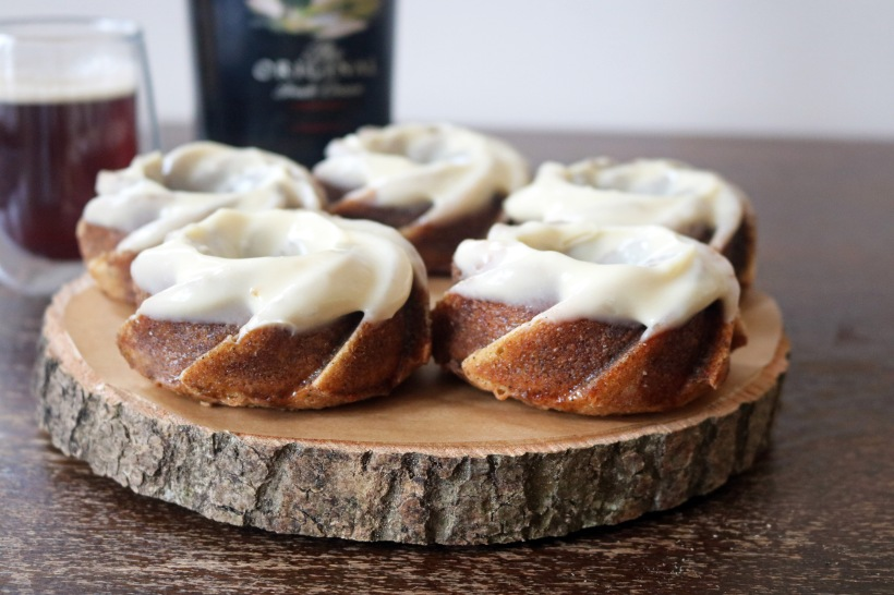 Baileys and cappuccino bundt cakes close up- copper spoon cakery