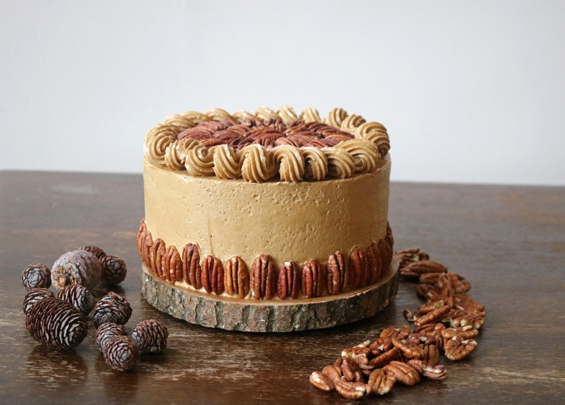 Pecan pie cake- copper spoon cakery